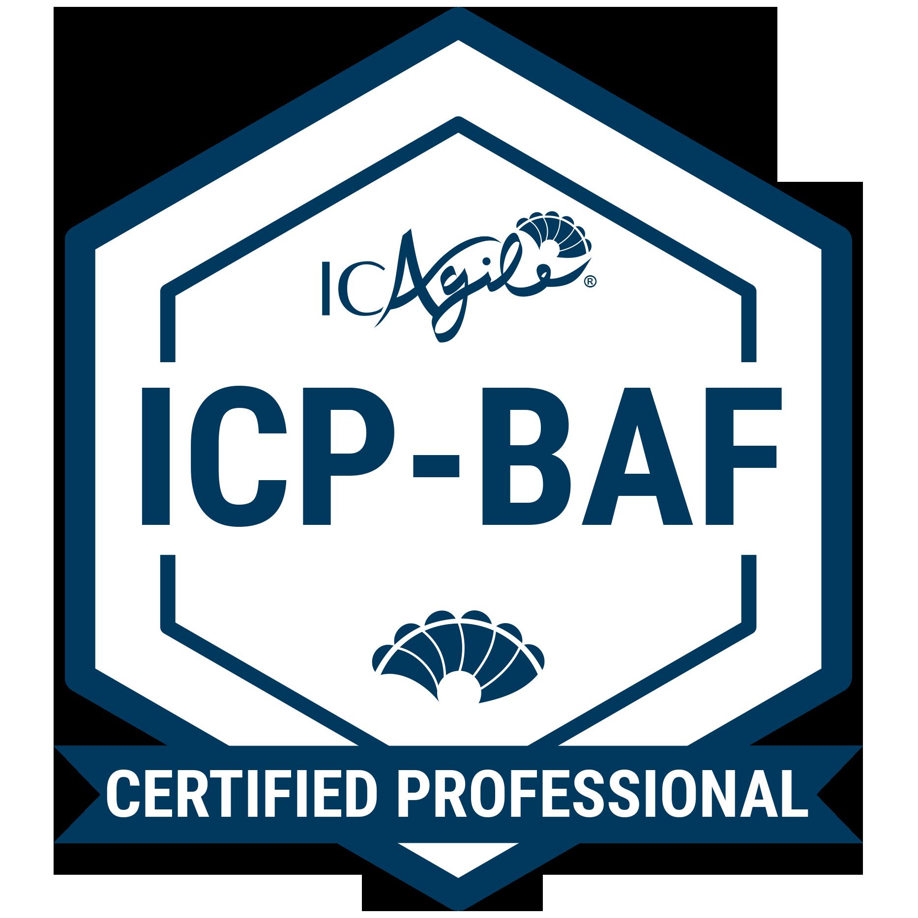 ICP-BAF badge